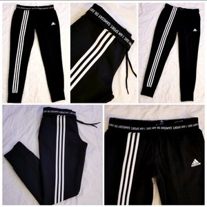 ADIDAS RARE TAPERED JOGGERS W/ ROLLOVER WAISTBAND